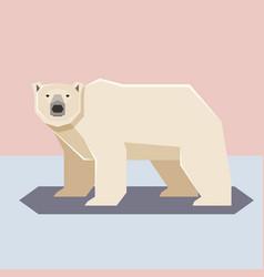 flat design polar bear vector image
