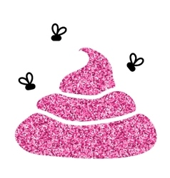 Image of pink glitter shit White background vector image