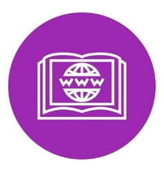 International education technology line icon vector