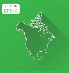 north america linear map icon business vector image vector image