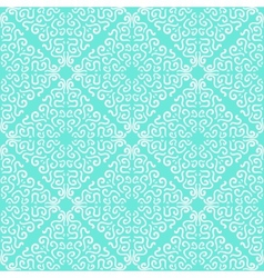 White curly graphic pattern on blue background vector image