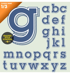 an old fashioned alphabet vector image vector image