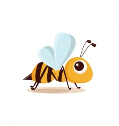 bee isolated vector image vector image