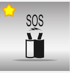 short circuit of wires black icon button logo vector image