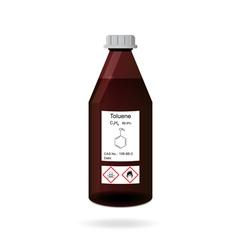 Bottle with toluene vector image vector image