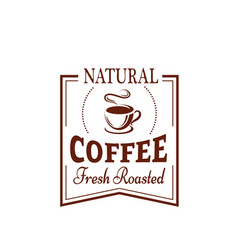 coffee cup label for food and drink design vector image