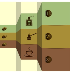 coffee options vector image vector image