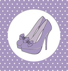 elegant high heels vector image vector image