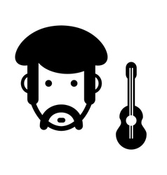 Musician sign vector image