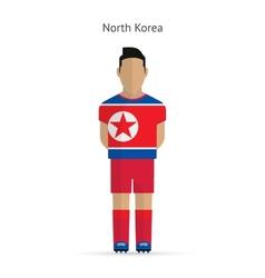 North Korea football player Soccer uniform vector image vector image