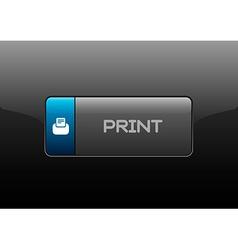 Print Button vector image vector image