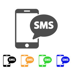 send phone sms flat icon vector image vector image