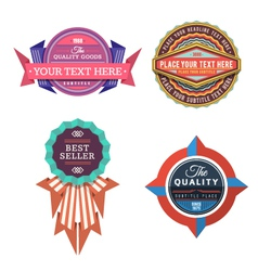 set of logo retro labels and vintage style vector image vector image