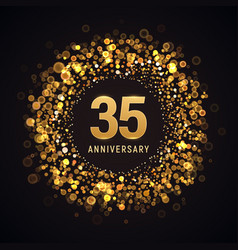 35 years anniversary isolated design vector image