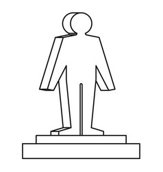 3d model of a man icon outline style vector