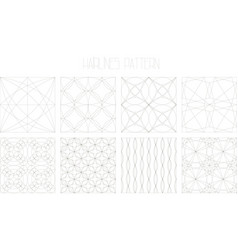 8 hairlines geometric patterns set 2 vector image