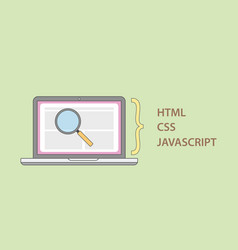 a website deconstruct element structure with html vector image