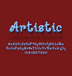 Artistic uppercase and lowercase letters vector