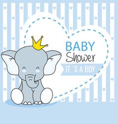 Baby shower boy vector