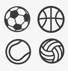 Ball icons set vector image