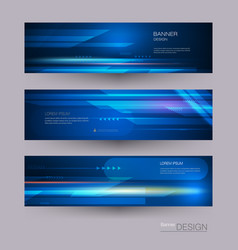 banners set with image of speed movement vector image
