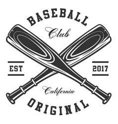 Baseball bats vector