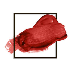 Beautiful red banner stain smear paint vector