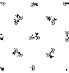 bike with luggage pattern seamless black vector image