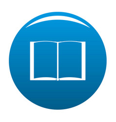Book novel icon blue vector