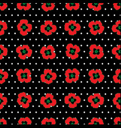 Bright flower seamless pattern vector