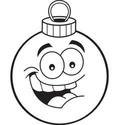 Cartoon Christmas tree ornament vector