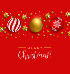 christmas red decoration layout greeting card vector image