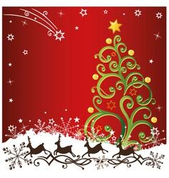 Christmas xmas reindeer vector image