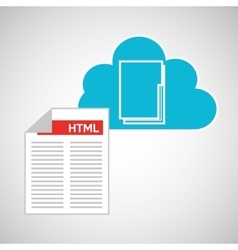 cloud technology web language document vector image
