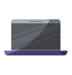 colorful silhouette of laptop computer with half vector image