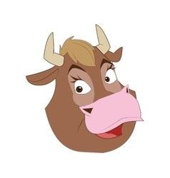 Comic style bull icon vector