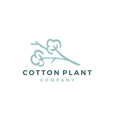 cotton logo icon download vector image