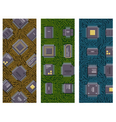 cpu microprocessors microchip brochure vector image