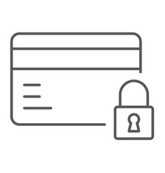 credit card security thin line icon e commerce vector image