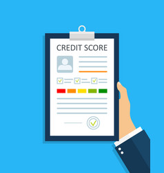 Credit score with report credit history with rate vector