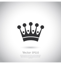Crown icon or logo vector image