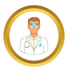 Doctor with stethoscope icon vector