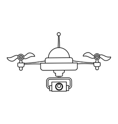Drone robot technology vector image