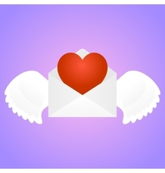 Envelope with heart vector image