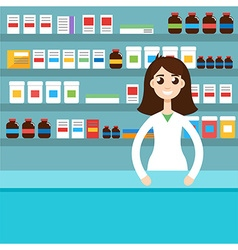 Female pharmacist vector