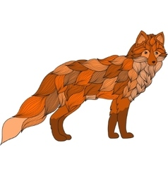 Fox dog or wolf of the waves vector