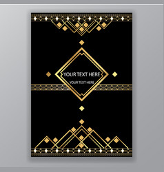 geometric page template for web and print luxury vector image