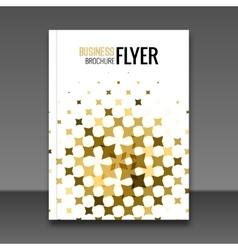 Gold Flyer design template Greeting Card Design vector