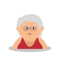 Grandmother avatar character member vector