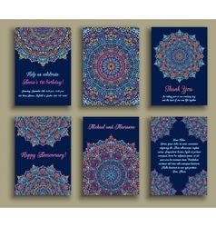 Greeting Cards Blue Luxury vector